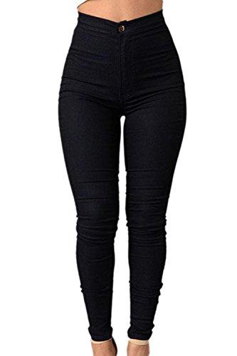Pantalon Black lastique Carpi Des Haute En Denim Skinny Les Femmes Clubwear Taille Jeans w7qqf14z