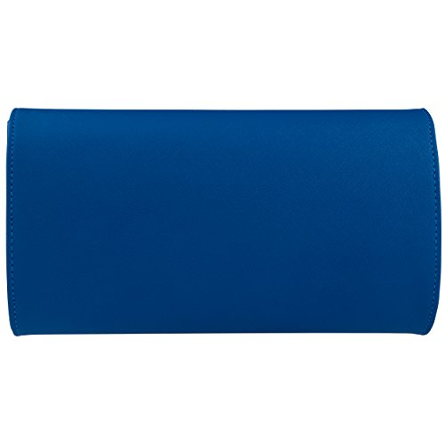 Clutches Bag Blue for Handbags Evening Royal Shoulder Envelope Leather Women Bags Bagood PqxwF1tEIS