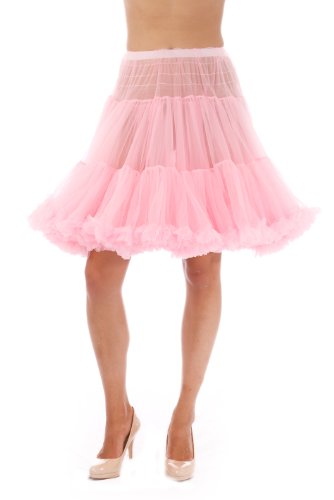 Malco Modes Luxury Vintage Knee-Length Crinoline Petticoat Skirt Pettiskirt, Adult Tutu for Rockabilly 50s Square Dance or Lolita Dress; Plus Size Petticoat Available Light Pink ()