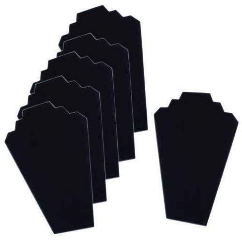 FANTASTIC :) Black Velvet Necklace Jewelry Display Organizer Stand 6pcs/Pack, 12.5inches (Pulaski Curio Display Cabinet In Black Granite)