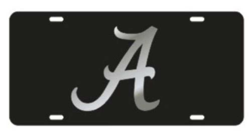 Craftique The University of Alabama Silver on Black A Laser Cut Inlaid Mirror ()