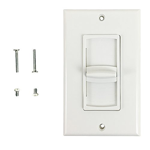 Volume Control Decora Wall Plate, 100W Impedance Matched Slider -