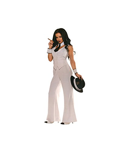 Boss Costumes Women (Gangster Miss Mob Boss Women Costume - Small)