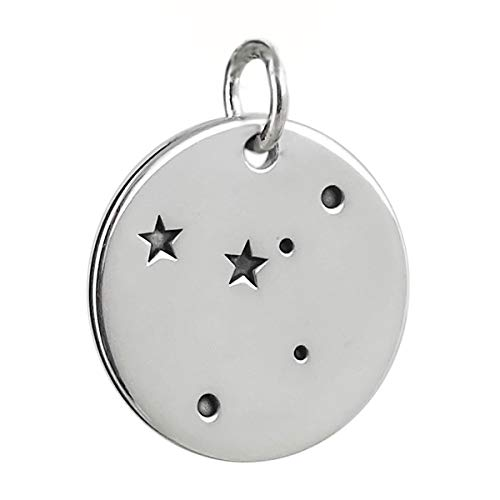 Cancer Charm - 925 Sterling Silver - Stars Pendant Zodiac Constellation - Jewelry Accessories Key Chain Bracelets Crafting Bracelet Necklace Pendants