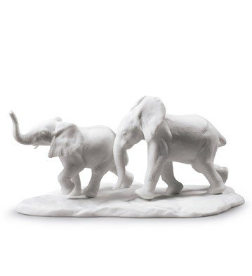 Figurines Lladro Animal - Lladro Animal Figurines 9297 FOLLOWING THE PATH (WHITE) 01009297 - Widenshop -Best Gift for Birthdays, Holidays or any other Occasion - Collectibles Home Treasures Indoor decorations - New Issue 2017