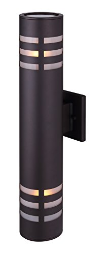 Canarm Tay 2 Light Outdoor Light with Clear and Frosted Glass – Oil Rubbed Bronze – Easy Connect Included Review