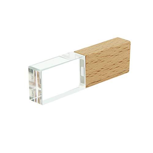 STAR-LINK Waterproof 8GB USB 2.0 Flash Drive Novelty Transparent Wood Crystal USB Memory Stick LED Light Pen Drive…