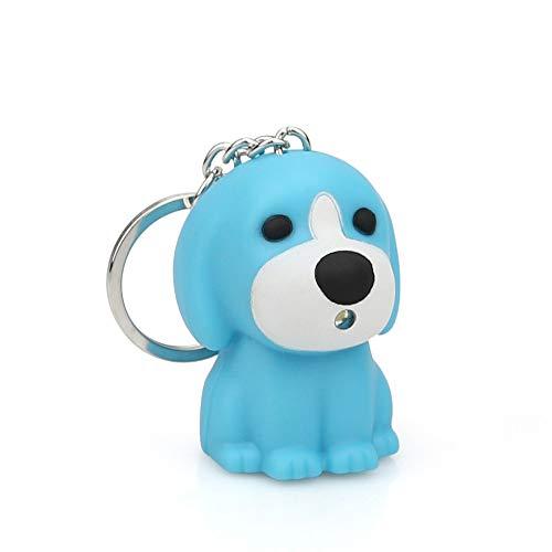 Danhjin Flashlight Danhjin Puppy Keychain Cartoon Keychain with LED Light Sound Keyfob Kids Toy Gift