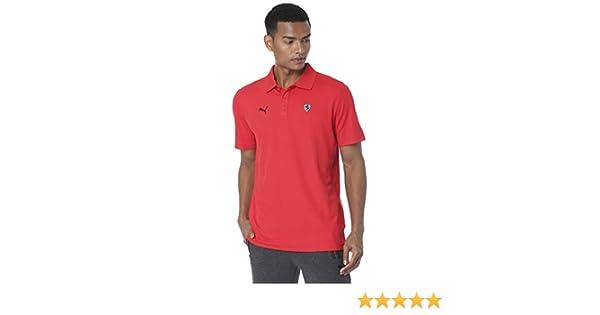 PUMA Ferrari - Polo para Hombre Rojo Rosso Corsa L: Amazon.es ...
