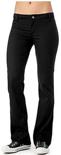 1 Back Pocket (Dickies Girl Junior's Worker Bootcut Pant with 2 Back Pockets,Black,1)
