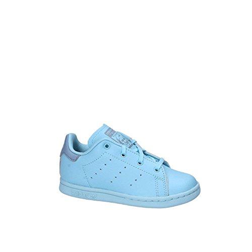 adidas Unisex Baby Stan Smith Sneaker, Bianco/Blu blu (Azuhie / Azuhie / Azutac)