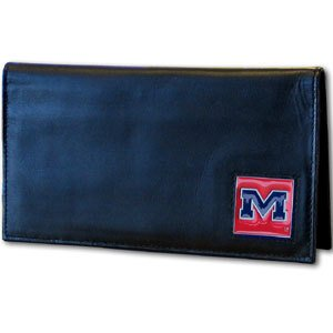NCAA Mississippi Old Miss Rebels  Leather Checkbook Cover