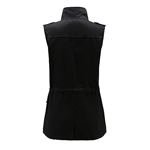 Puro Slim Parka Donna Gilet Inverno Cardigan ❤ Vicgrey Autunno Nero Bottoni Con Moda Outwear Fit Cappotto Ragazze Eleganti Giacca Lungo Colore Da fcRPRBzW