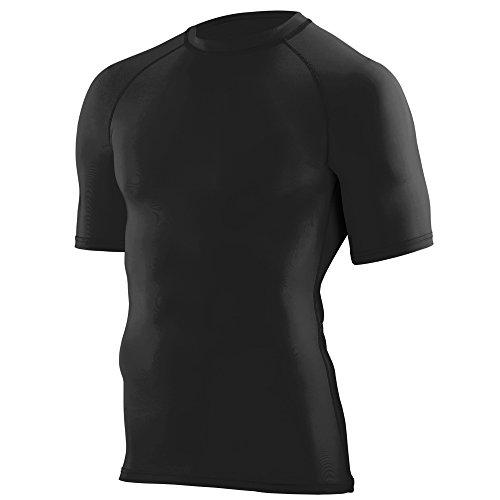Augusta Sportswear Boys Hyperform Compression Short Sleeve Shirt L Black