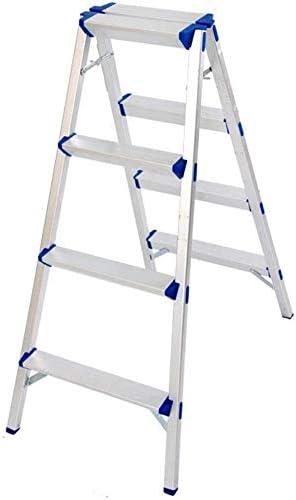 Taburete Escalera Plegable de Dos Caras Ingeniería Escaleras de aleación de Aluminio Escalera Parque/Granja Escalada Escalera Plegable Escalera 3 Pasos 4 peldaños de la Escalera multifunción: Amazon.es: Hogar