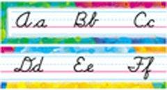 Cursive Color Splash Alphabet Line(Modern)Bulletin Board Set Alphabet Line Modern Bulletin Board