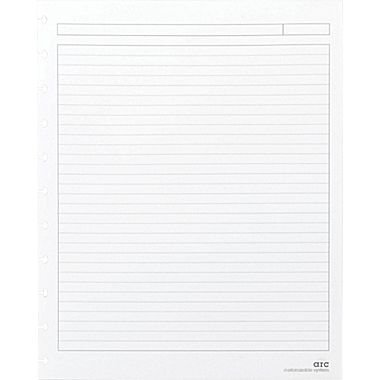 Reinforced Premium Refill Paper, Letter-sized, White, Narrow Ruled, 50 Sheets ()