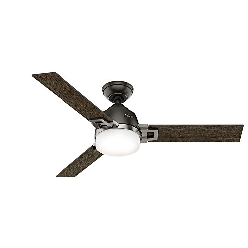 (Hunter Indoor Ceiling Fan with LED Light and Remote Control - Leoni 48 inch, Nobel Bronze, 59219)