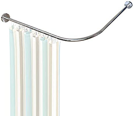 Amazon Com Begleri L Shaped Shower Curtain Rod Curved Shower