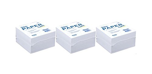 White Memo Paper Cube, 500 Paper Notes Per Pack. - Handy on Desk When You Need a Quick Note. (3-pack) (Cube Sticky Note)