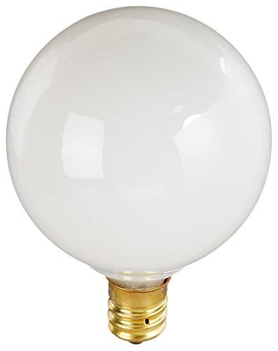 (Bulbrite 60G16WH2 60W G16 Globe 120V Candelabra Light Bulb, White)
