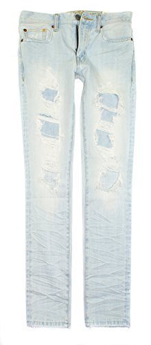 American Eagle Men's Slim Straight Jean 4037 (Destroyed Light Wash) (28x32)