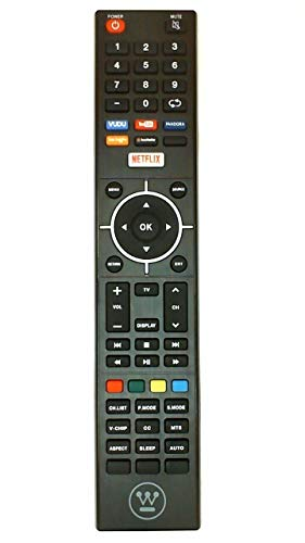 Westinghouse LCD TV Remote Control for Models WD65NC4190, WE55UC4200, WD55UT4490, WD50UT4490, WD42UT4490, WD55UB4530 (Part No: 845-058-03B00)