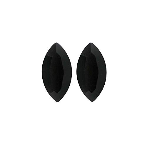 Navette Fancy Stone - Swarovski Crystal, 4228 Xilion Navette Fancy Stone 8x4mm, 2 Pieces, Jet
