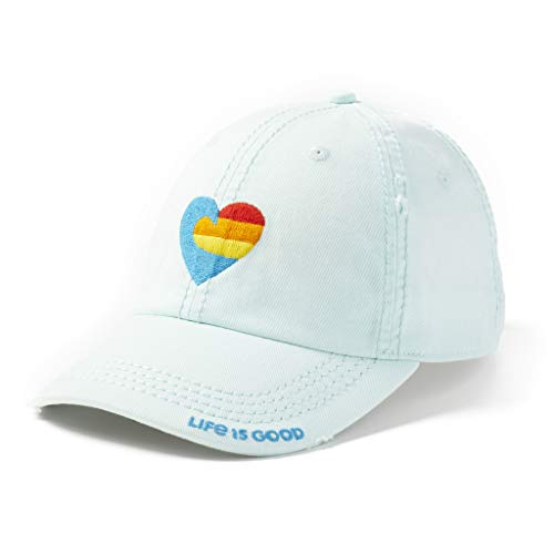 Life is Good Wave Heart Sunwashed Chill Cap - Bermuda Blue | Adjustable