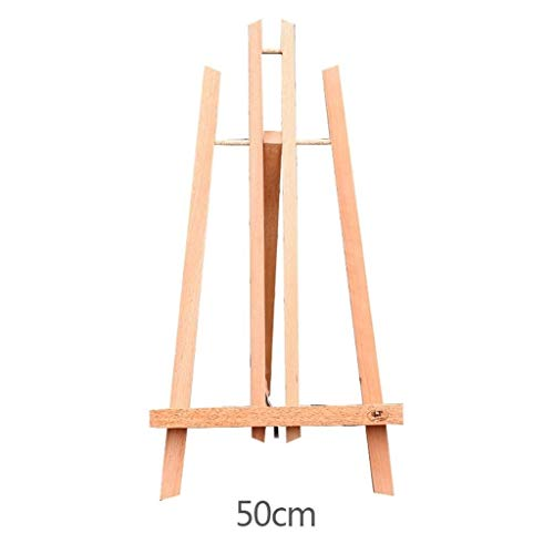 RMXMY Desktop Small Desktop Foldable Desktop Restaurant Poster Frame Easel Album Mini Display Frame Triangle Easel Wooden Painting Art Advertising Display Rack (Size : 50cm) ()