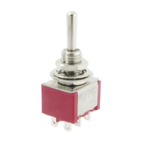 uxcell 6 Pcs AC 250V 2A 120V 5A Momentary ON/OFF/ON 3 Position DPDT Toggle ()