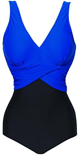 Cuciture Design A Navy colori di Un Costumi quattro da Pezzo Blu Bettydom Colori Donna opzionali a Bagno 68WSw