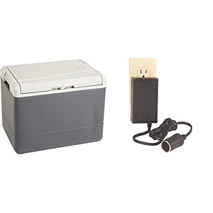 Coleman 40 Quart PowerChill Thermoelectric Cooler And Coleman  Thermoelectric Cooler 120 Volt Adapter Bundle