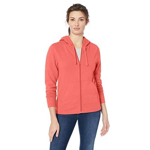 Amazon Essentials Women's French Terry Fleece Full-Zip...