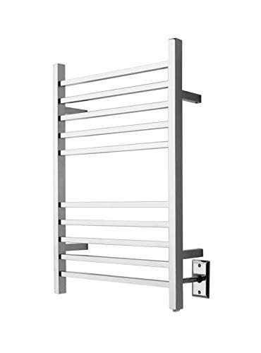 Amba RSWH-B Hardwired Radiant Square Towel Warmer, Brushed - Curved Towel Heated