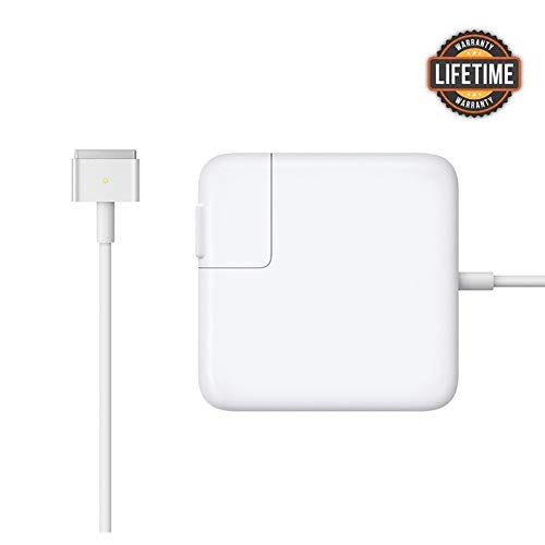 Mac Book Air Charger, Great Replacement 45W Magsafe 2 Magnetic T-Tip Power Adapter Charger for MacBook Air 11-inch and 13-inch (Mid 2012 or Later) ... (White) (Imac Apple 11 Air)