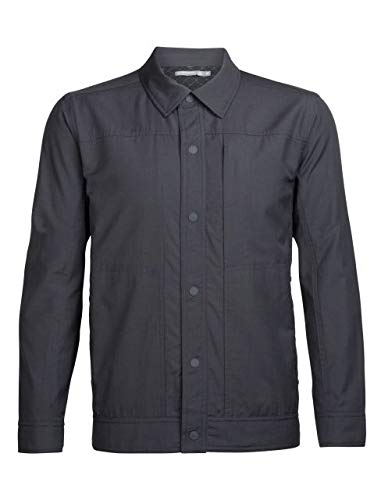 Icebreaker Mens Escape Thermo Jacket; Monsoon/Jet HTHR - Size: S