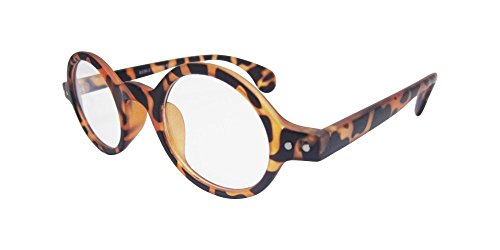 Small Round Vintage Retro Round Amber Leopard Tortoise Shell Eyeglass Frame - For Leopard Sale Tortoise Male