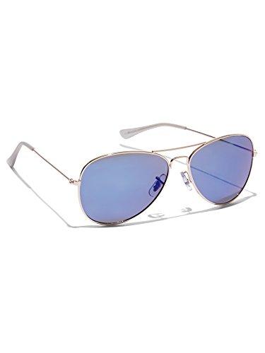 New York & Co. Women's Mirrored Aviator Sunglasses 0 Medium - Medium Sunglasses Sized Aviator