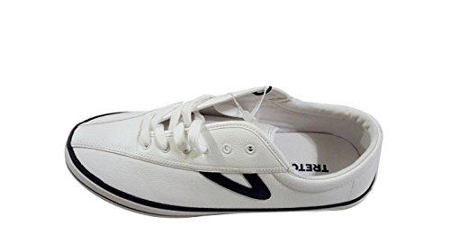 Tretorn Homme Nylite Sneaker En Cuir Blanc / Caban. chaussures; cuir