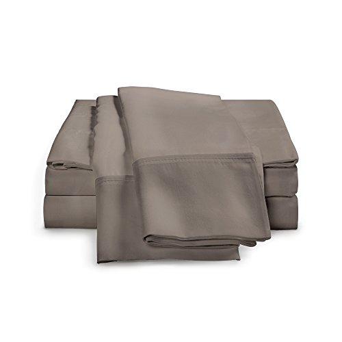 4-Piece Bamboo Sheet Set - Ultra Soft 100% Rayon From Bamboo by eLuxurySupply, King, Grey by eLuxurySupply