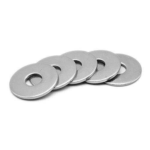 Gaoominy M5x10mm Arandela plana redonda de acero inoxidable para perno de tornillo 100Pcs