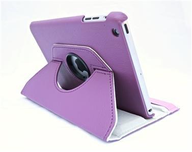 Champion Quality Apple New Ipad Apple IPAD Air 2/ Ipad 6  360 Degree rotation Light Purple Horizontal & Vertical View Leather Cover For Apple New Ipad