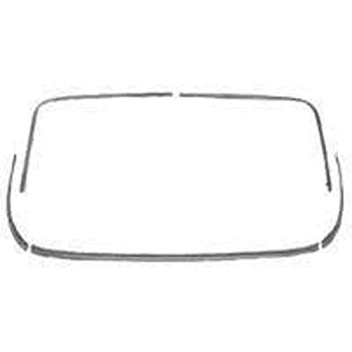 - Eckler's Premier Quality Products 40138357 Full Size Chevy Rear Window Molding Set Stainless Steel 2Door Hardtop Impala