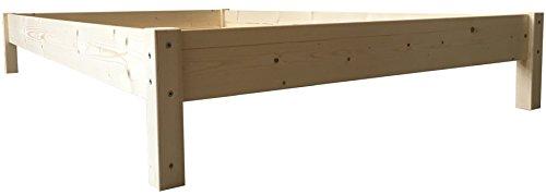 Futonbett Bett Holz massiv 90 100 120 140 160 180 200 x 200cm, hergestellt in BRD (140cm x 200cm)