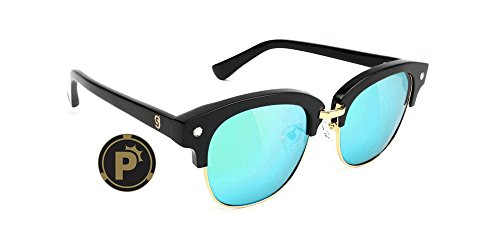 853705e812 Glassy Sunhaters Sunglasses Carrie High Roller (Black Blue
