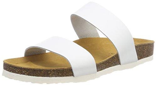 Bianco Twin Strap Slip, Mocassins Femme Blanc (White 80)