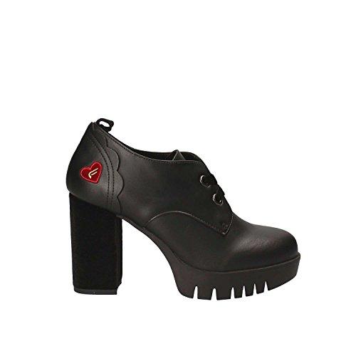 Fornarina WoMen Bea Platform Heels, Black, 4 Black