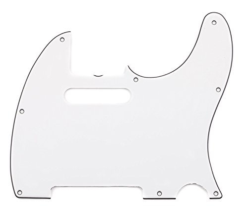 Fender Pure Vintage  '64 Telecaster Electric Guitar Pickguard, 8-Hole, Eggshell 3-Ply