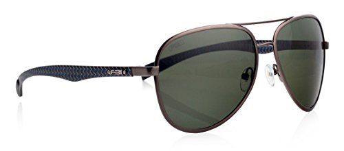FBI Men's Aviator TAC Polarized Designer Sunglasses with Carbon Fiber Temple, 100% UV BLOCK, - Sunglasses Fbi
